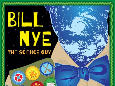 Bill Nye The Science Guy music lecture science illustration science science rules bill nye the science guy bill nye rock and roll vector rock poster poster design poster art poster illustration concert poster