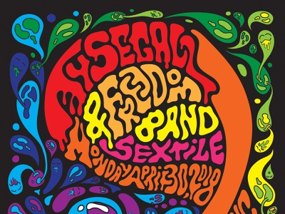Ty Segall & Freedom Band w/ Sextile music psychedelic psychedelia ty segall punk rock and roll vector rock poster poster design poster art poster illustration concert poster