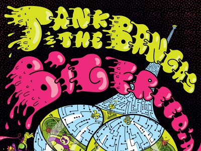 Tank and The Bangas & Big Freedia music new orleans parliament p-funk pedro bell funkadellic tank  the bangas big freedia rock and roll vector rock poster poster design poster art poster illustration concert poster