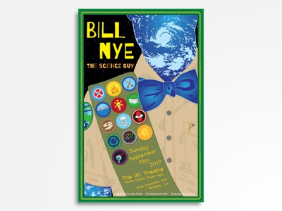 Bill Nye The Science Guy eyeball gig poster enviroment boy scouts science illustration science lecture science rules the science guy bill nye vector rock poster rock and roll poster design poster art poster music illustration concert poster