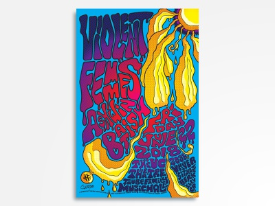 Violent Femmes w/ Ashwin Batish gig poster alternative punk folk violent femmes eyeball rock and roll vector rock poster poster design poster art poster music illustration concert poster