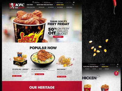 KFC India website ui uiux ux web design animation design agency website concept website design kfc kfc india kfc india website interaction design human computer interaction