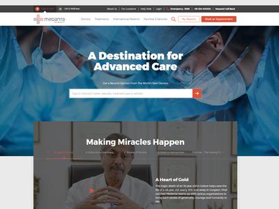 Medanta - Designed for Empathy medical website design telemedicine design medanta website design uiux website concept human computer interaction ux design for healthcare healthcare ux design