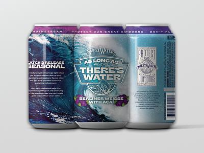As Long As There's Water craft brew beer labels sweetwater beer label design beer branding beer can craft beer beer label beer