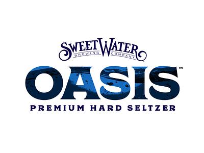 Oasis Premium Hard Seltzer Logo hard seltzer alcohol drink seltzer beverage beverage branding branding