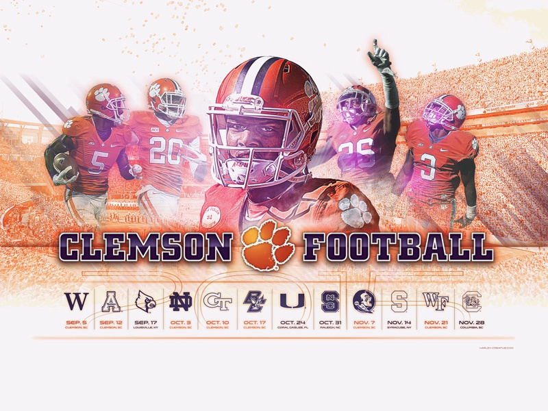 2015 Clemson Football Wallpaper By Harley Creative Dribbble Dribbble
