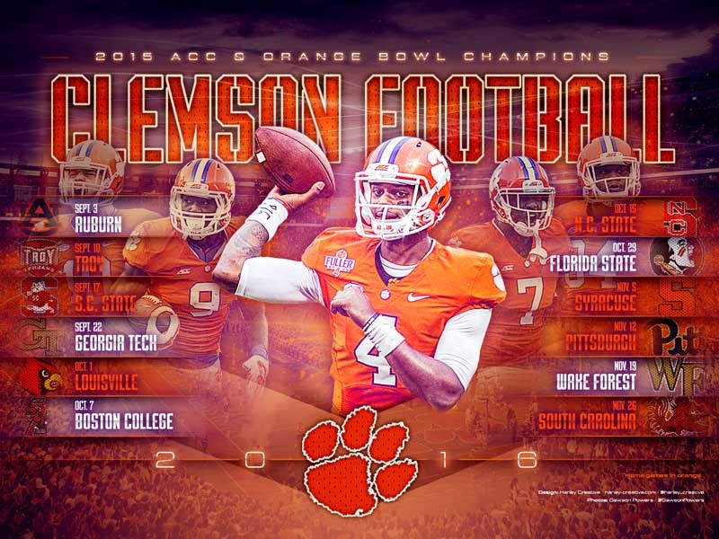 2016 Clemson Football Wallpaper By Harley Creative Dribbble Dribbble