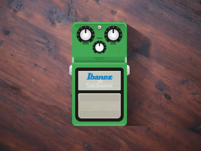 Tubescreamer ts9 effects pedal guitar illustration tubescreamer ibanez