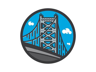 Ben Franklin Bridge philadelphia philly illustration bridge