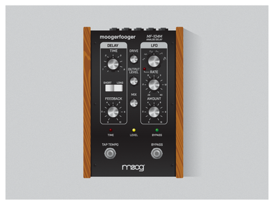 Moog MF-104M Analog Delay illustration delay effects guitar pedal analog delay moog