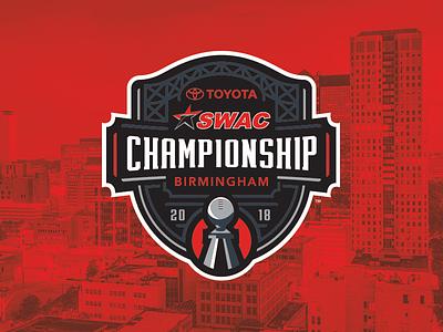2018 SWAC Football Championship event branding identity trophy sports swac college football football college sports logo