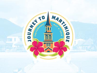 Journey to Martinique event logo illustration church martinique