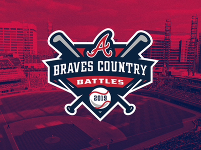 Braves Country Battles baseball bat atlanta braves baseball logo sports logo