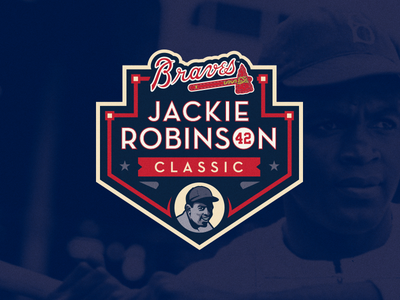 Jackie Robinson Classic sports app sports logo atlanta braves baseball jackie robinson
