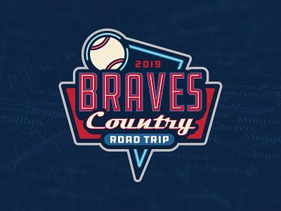 Braves Country Road Trip retro design sports logos neon road sign baseball atlanta braves