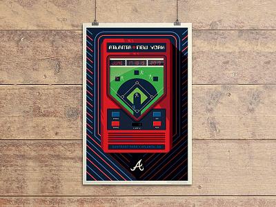 Braves Poster baseball poster poster retro video game video game electronic baseball baseball new york mets atlanta braves