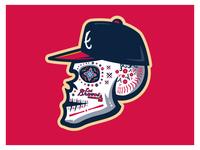 Braves Sugar Skull