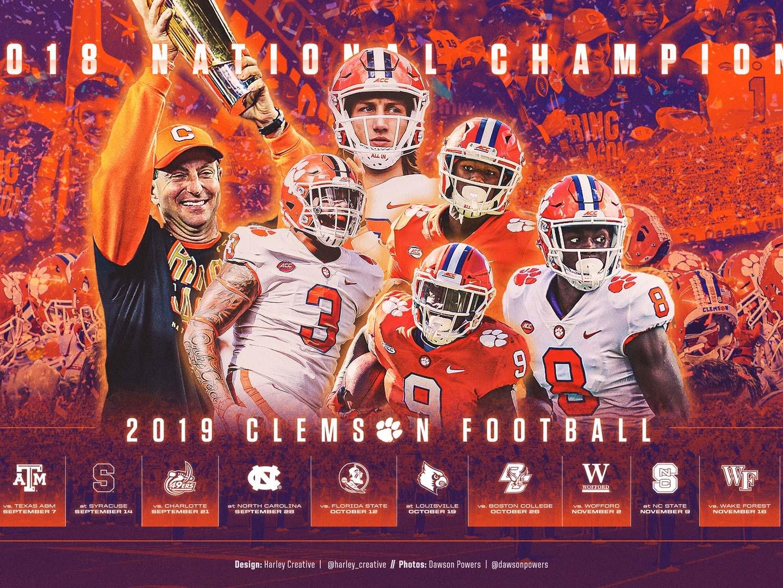 2019 Clemson Football Wallpaper By Harley Creative On Dribbble