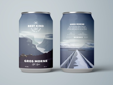 Gros Morne Light Lager Beer Can Design