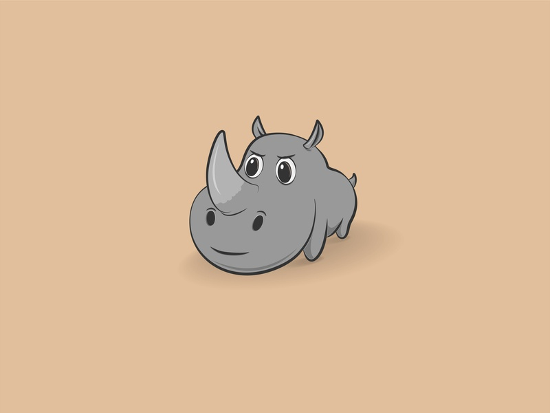 Rhinoceros drawing gray vector angry illustrator illustration art photoshop plan rhinoceros insidious