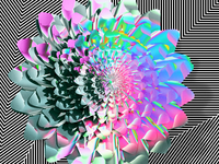 Spring flower — An artwork collage of 3D + computational art