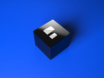 P2 logo cube logo 3d c4d