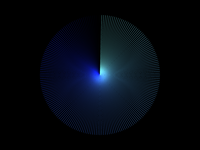 Line Circle Blue
