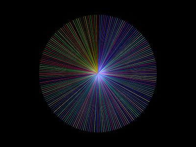 Line Circle rainbow vector python drawbot computational art