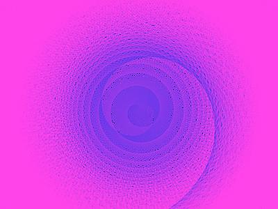 Spiral lines python drawbot computational art