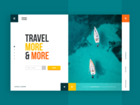 Sea Travel Tour Web-site concept
