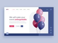 Organization of celebrations. Web-site concept