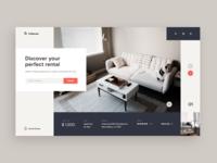 Rental Service Web-site concept