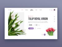 Flowers Store Web site Concept