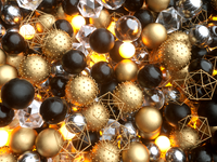 Gold & Black Stone
