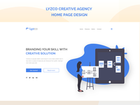 Creative agency home page design