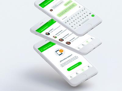 UX/UI Mobile App against cancer requests app chat app cancer app against cancer