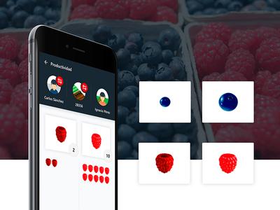 Fruit collection management App collect app fruit collection app fruit collect visual design ui design ux design ux ui farmer fruit app