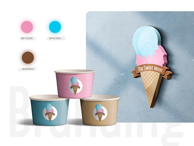 The Sweet Moon - Visual Identity / Branding sweet moon identidad corporativa logo helado logotipos ice cream branding visual identity logos ice cream logo