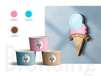 The Sweet Moon - Visual Identity / Branding sweet moon identidad corporativa logo helado logotipos ice cream branding visual identity logos ice cream logo