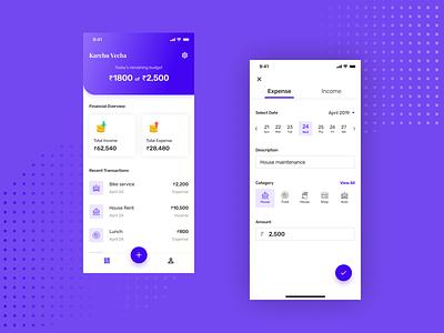 Finance Tracker newbie debut shot ui ux design designer first shot finance app ux design ui design