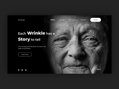Old age Website Concept website concept website design old age home ui design ux design content design webdesign uidesign