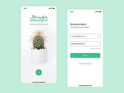 Sign In - Cactus purchasing app ios app cactus ux design uidesign login design login screen