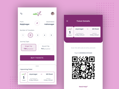 Ticket Booking App concept bangalore metro metro ios design ios design ux design uidesign ticket booking visual design uiux ui ui design metro ticket android app