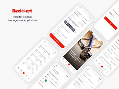 Incident Management Application ios design incident management hospital management medical app uxdesign uidesign uiux casestudy