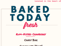 Daily list of flavors from cupcake website (Detail)