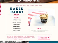 Baked Today Section of Cupcake Website
