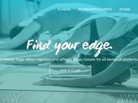 Yoga studio website header