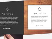 Jewelry store homepage detail