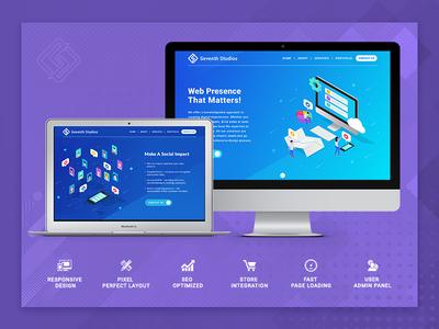 Seventh Studios Website Illustration