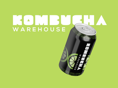 Komucha Warehouse packaging design layout communication illustration drink fresh young millenial design graphic design wordmark logo design logo type brewery print packaging packaging design kombucha packaging kombucha